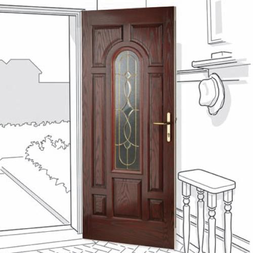 Arched glazed Composite Door - Newcastle Killingworth Forest Hall Benton North Shields  sc 1 st  Excel North-East & Composite Doors - Excel North-East