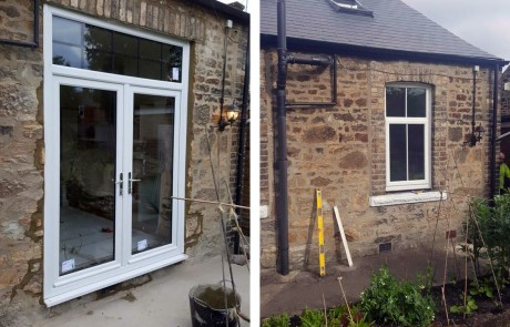 Before & After: Knock through and installation of French Doors Killingworth, Tyne & Wear