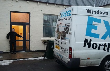 New front door and aluminium windows, in West Allotment, North Tyneside