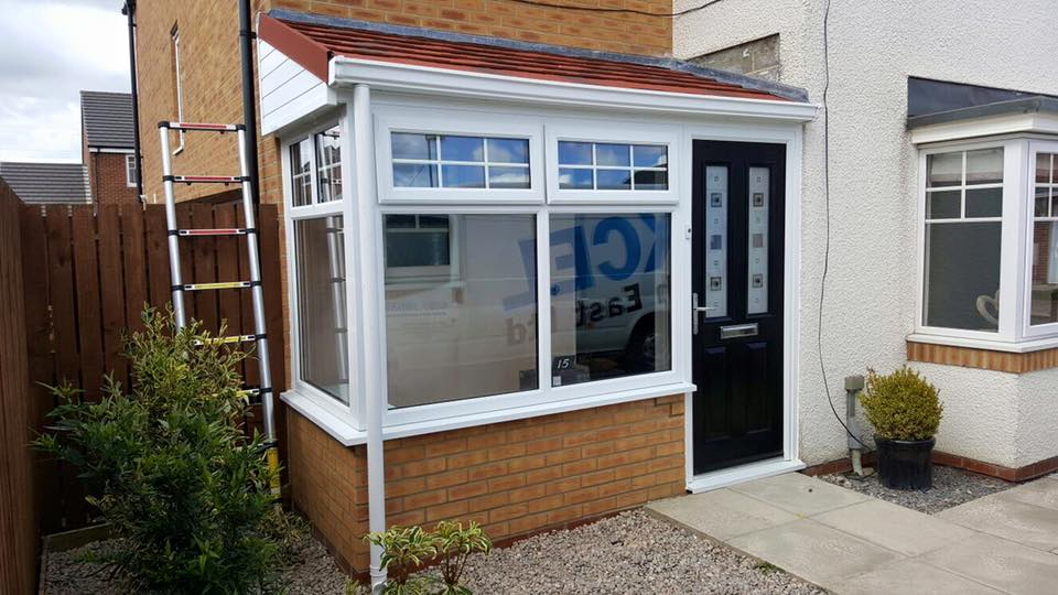 New porch in blaydon tyne wear excel north east for Porch windows and doors