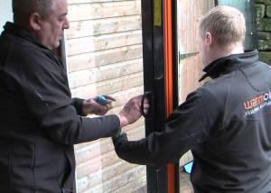 WarmCore Folding Sliding Patio Door Installation