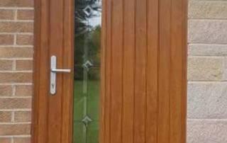 Excel NorthEast fit an Oak Finish Composite Door in Darras Hall, Northumberland