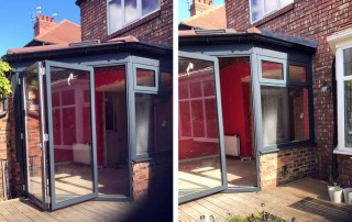 AFTER: Warm Conservatory Roof, WarmCore Aluminium Windows & Bi-fold Doors in Jesmond, Newcastle Upon Tyne