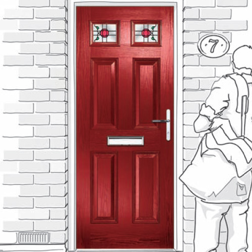 Six Panel Composite Doors in Tyne & Wear and Northumberland areas.