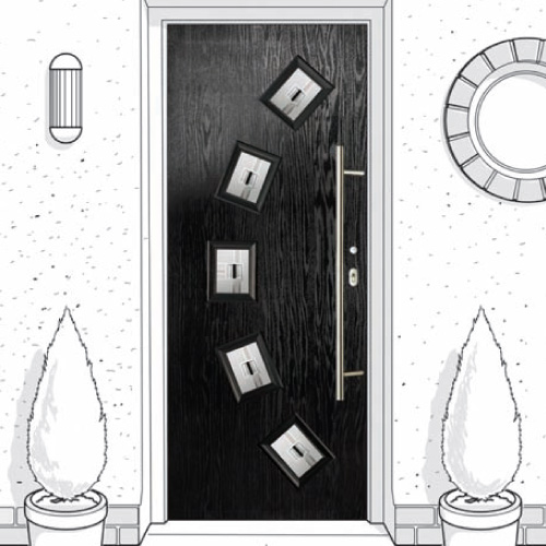 Flush composite doors designed to order in Newcastle Upon Tyne, Tyne & Wear.