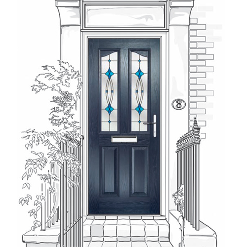 Four-Panel Composite Doors Fitted In North Tyneside, Newcastle Upon Tyne and Northumberland