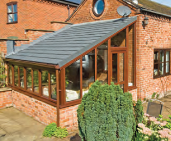 Lean-to guardian warm roof / consevatory roof conversion available throughout Northumberland and Tyne & Wear.