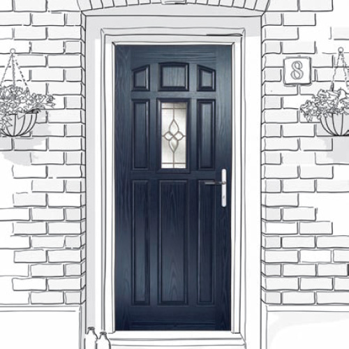 Newcastle and North-East fitters of Prestige Style 9-Panel Composite Doors.