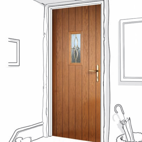 Wood-effect Cottage Style Composite Doors available in Newcastle Upon Tyne, Tyne & Wear.