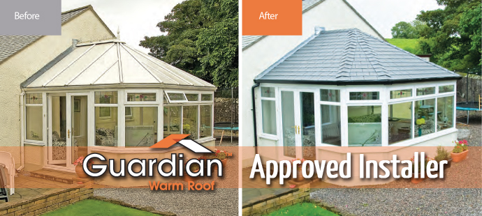Approved installer of Guardian Warm Roof Conversions in North Tyneside, Newcastle, Tyne & Wear and Northumberland.