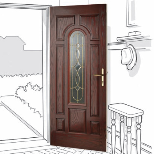 Arched glazed Composite Door - Newcastle, Killingworth, Forest Hall, Benton, North Shields, South Shields and beyond.