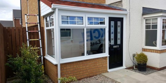 New Porch In Blaydon: Extend your home in the North-east with a new porch extension, new front door, windows and a warm roof.