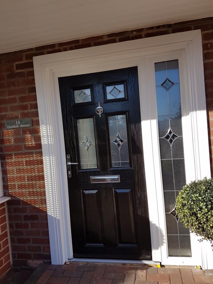 Composite Door in Blyth + Glass Side Panel - Excel North-East