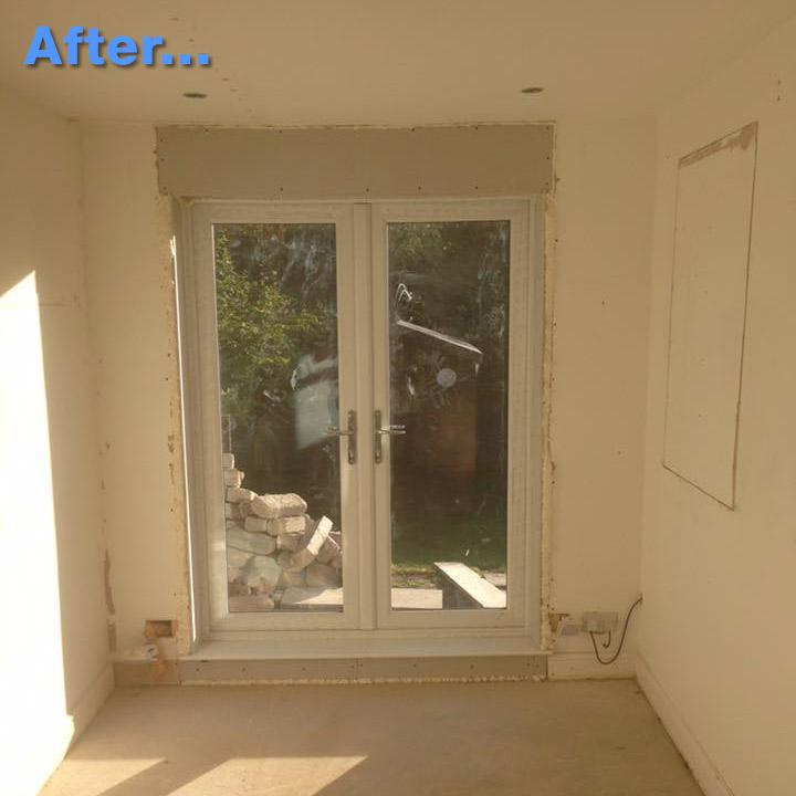 New patio door in north killingworth window moved for New patio doors