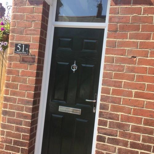 Black New Front Door In Wallsend