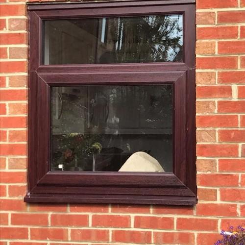 stunning rosewood double-glazed windows in blyth northumberland