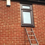 rosewood framed double-glazed windows fitted in blyth