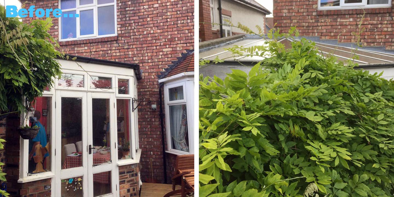 BEFORE: Warm Conservatory Roof, WarmCore Aluminium Windows & Bi-fold Doors in Jesmond, Newcastle Upon Tyne