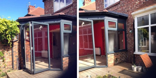 AFTER: Warm Conservatory Roof, WarmCore Aluminium Windows & Bi-fold Doors in Jesmond, Newcastle Upon Tyne
