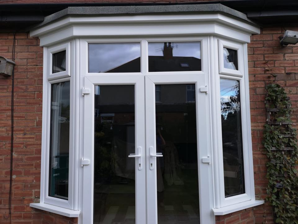 brick out and patio door in seaton delaval with side and transom windows