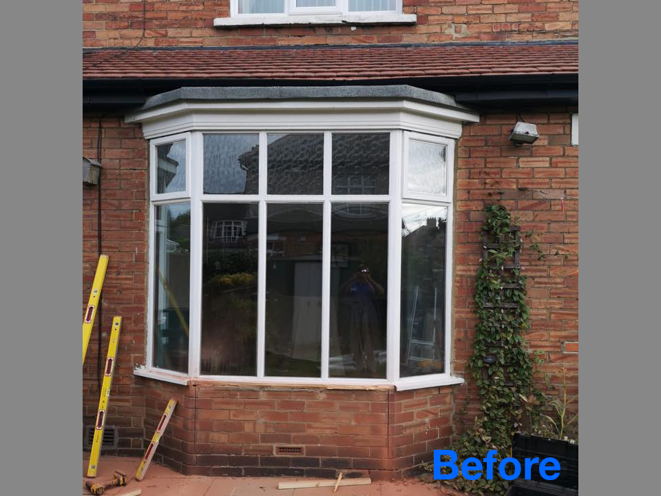 BEFORE: brick out and patio door in seaton delaval with side and transom windows