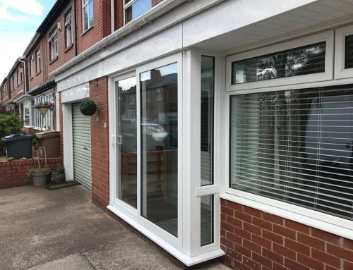 Sliding Patio Door in North Shields with Side Window