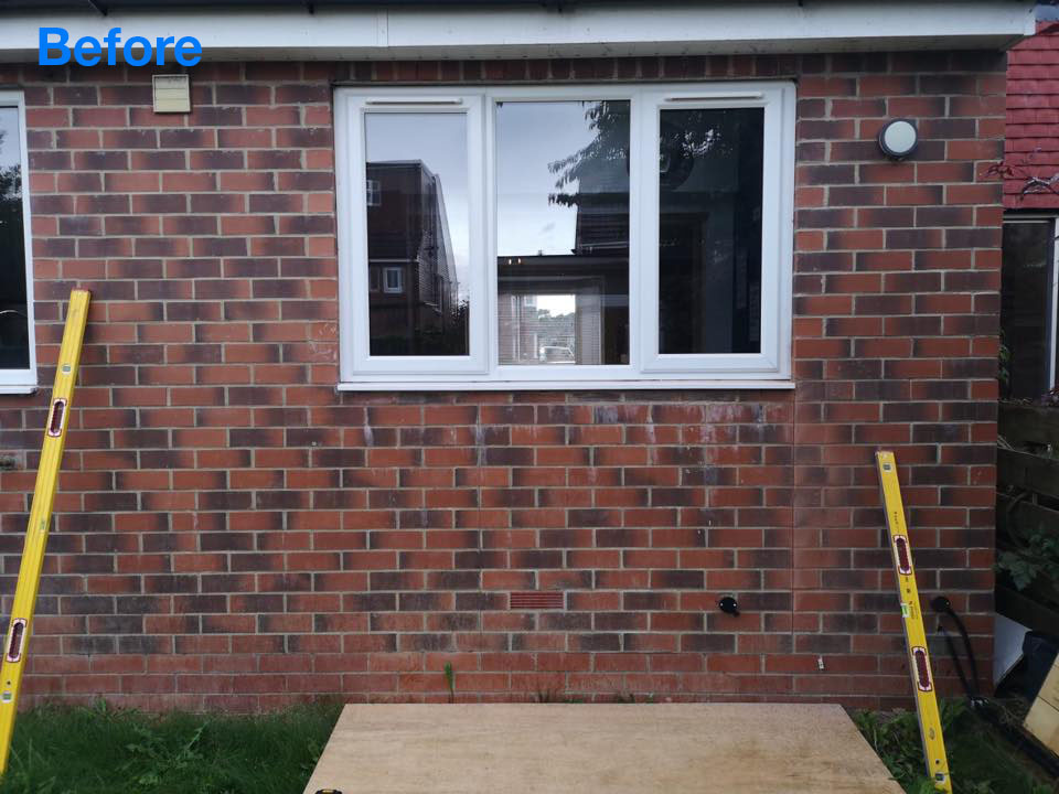 Brick out for Patio Door In Monkseaton - BEFORE